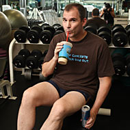 Bruni at the gym.
