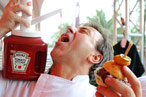 And Now, Chef Daniel Boulud Chugging Ketchup