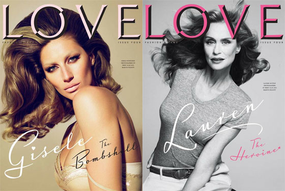 Gisele and Lauren Hutton are also among the model pool to appear on covers
