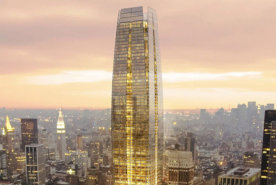 An artist's rendering of 15 Penn Plaza