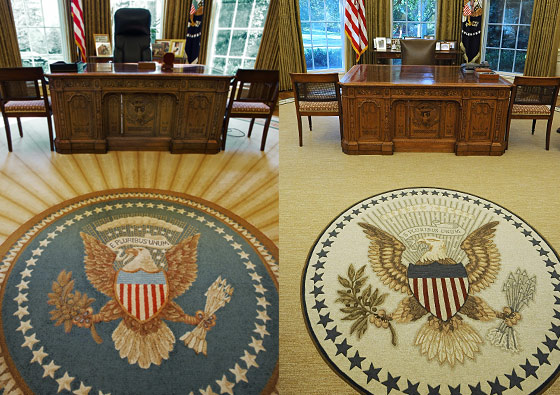 President Obama Installs Appropriately Less Optimistic Rug In The Oval Office Nymag