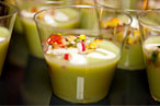 At last year's Hot Plates Live Brooklyn, Calexico's tomatillo gazpacho