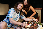 Another way to score free food: Be Crazy Legs Conti, beverage director of the Penthouse Club.