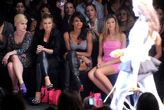 Kelly Osbourne, Carmen Electra, and Ciara at Betsey Johnson's spring 2011 show.