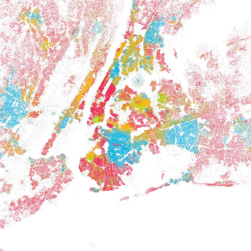 Mapping Racial Segregation In New York City - New york map city