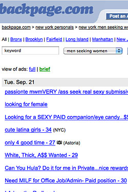 Something is. Craigslist adult pages