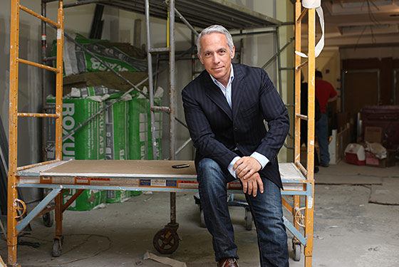 Zakarian in the raw space that will soon be the National.