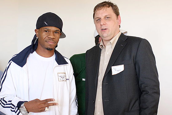 The CEO of Chamillitary Entertainment with TechCrunch's Michael Arrington.