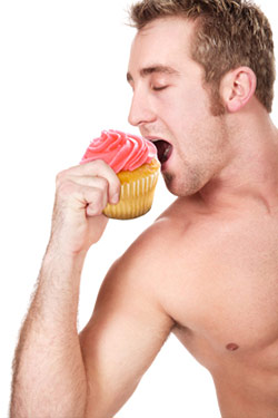 And Now, a Gender-Defying Photo of a Man and His Cupcake