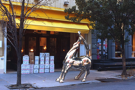 Downtown Cipriani Can Put a Giant Chrome Horse on the Sidewalk If It Wants To