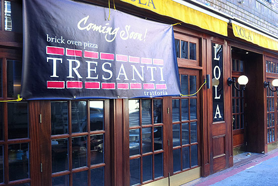 Soho's New Pizza and Pasta Spot, Tresanti, Will Open Next Month