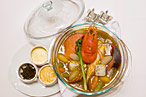 Lobster pot au feu.