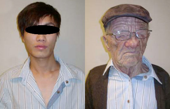 Young Asian Man Gets Past Airport Security in Old-White-Man Mask