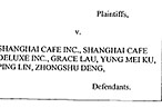 Former Cooks and Waiters Serve Lawsuit to Shanghai Café