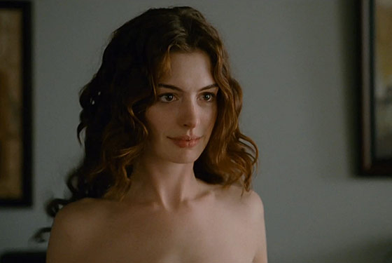 Not doubt anne hathaway shows off her boobs