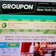 How about $10 for $20 worth of Groupon stock?