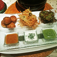 A trio of latkes at Toloache.