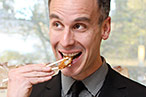 Adam Rapoport enjoys Caf&amp;#233; Zaiya&#39;s chicken katsu.