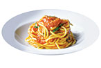 Scarpetta&#39;s spaghetti with tomato and basil.