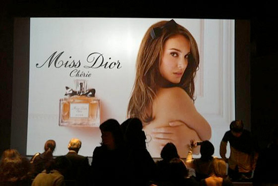 Natalie Portman is the new face of Dior's Miss Dior Cherie perfume.