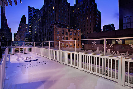 W Hotel Downtown Lets You Skate With the Stars (Like, the Actual Stars in the Sky)