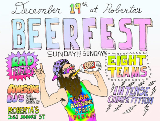 At Roberta's This Sunday, It's All About Keg Stands and Tricycles