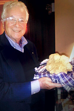 Tony May with his prize truffle.