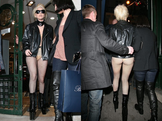 Lady Gaga Bought Stuff at a Preppy Clothing Store in Paris Today