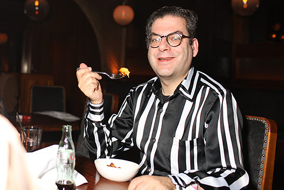 The Village Voice's Michael Musto, out on the town.