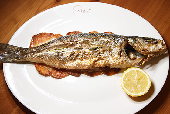 The Branzino al Forno at Eataly's Il Pesce.