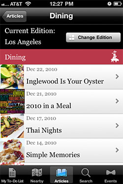 Tasting Table Launches App