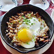 Maharlika's sizzling sisig.