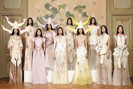Givenchy's Riccardo Tisci Presents Couture 'Works of Art' on All-Asian Model Cast