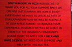 South Brooklyn Pizza Preps for Park Slope, Begs for Booze in East Village