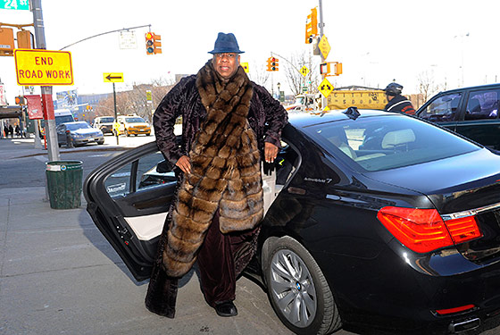 photo of André Leon Talley  - car
