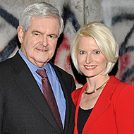 Gingrich and his current wife.