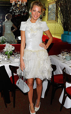 Blake Lively Wears White to La Grenouille; Snooki Wears Black t