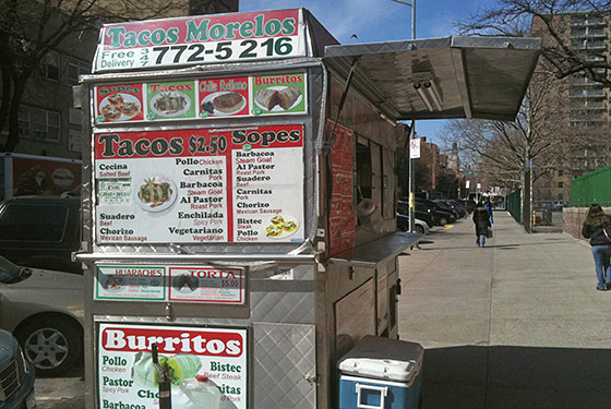 Tacos Morelos Cart Arrives in Alphabet City