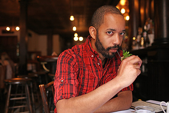 Cenac, at Rye in Williamsburg, drinking his mint julep.