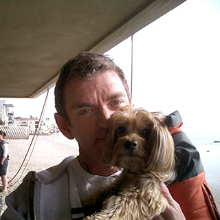 michael patrick king and gidget the dog