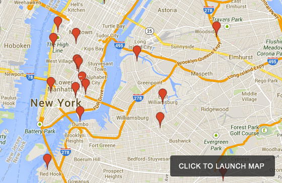 The Banksy Tour Of New York City Interactive Map - New york map