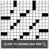 Click to download Vulture's Crossword puzzle