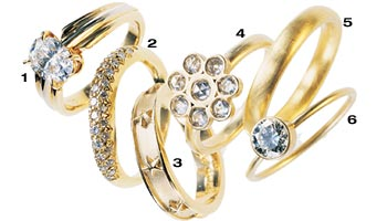 New York Wedding Guide Hot Flashes Engagement and Wedding Ring