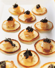 Potato-Chive Blinis With Hot Smoked Trout and Caviar - Appetizers ...