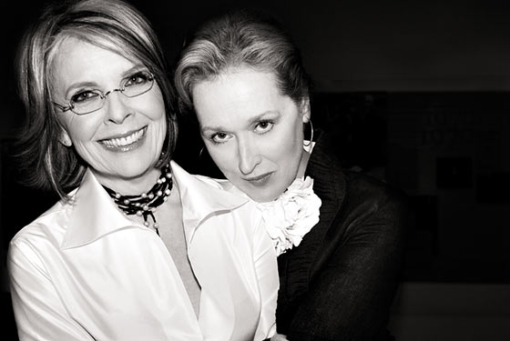 Diane keaton and meryl streep backstage at avery fisher hall