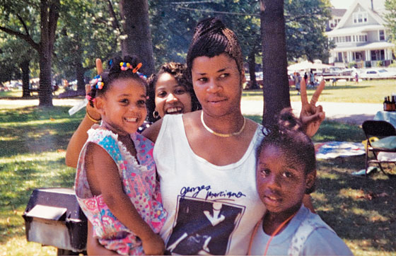 Ann Pettway, center, with Netty, left (c. 1992).