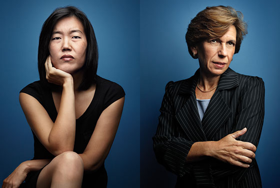 ... reformers like Washington, D.C. schools chancellor Michelle Rhee (left), while it casts AFT president Randi Weingarten (right), in the words of Variety, ...