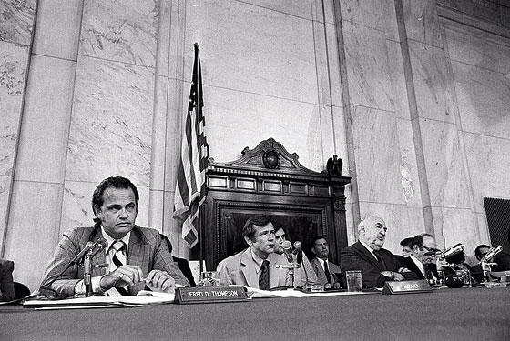 Thompson, serving as minority counsel on the Senate Watergate Committee.