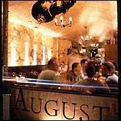 August Restaurant in New York.