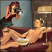 Female photographer male nude